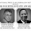 2018 NPC Fourth Estate Award Honoring Dean Baquet and Martin Baron
