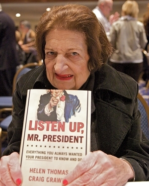 NPC member Helen Thomas was one of several Club members signing books at the annual book fair