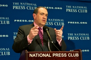 Mike Huckabee, former Arkansas governor, Fox News Contributor and Republican presidential candidate in 2008, spoke at the National Press Club (NPC) Newsmaker Program on Thursday to discuss his new book, <em>A Simple Government: Twelve Things We Really Need From Washington (and a Trillion That We Don't!)</em>.