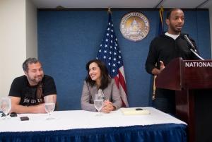 Ahmed Ahmed, Mariam Atash Nawabi (PlanetPix Media) and Omar Regan of the 'FUNATICALS Comedy Tour.'