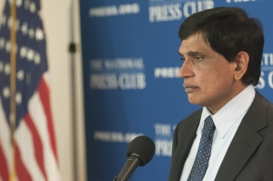 T. Kumar, director for international advocacy of Amnesty International USA, speaks at a National Press Club Newsmaker, Feb. 24, 2012