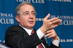 "Former president of Colombia, Alvaro Uribe Vélez discucces his book, ""No Lost Causes"" at a National Press Club Book Rap, October 10, 2012."