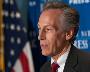Virgil Goode, Constitution Party candidate for the presidency, discusses his platform at a National Press Club Newsmaker news conference, October 12, 2012.  Mr. Goode started his political career in the democratic party; became an independent in 2000, a republican in 2002, and following his failed reelection bid to Congress in 2008, aligned with the Constitution party.