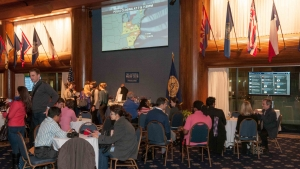 Revelers discuss returns at Club's Election Night Watch party