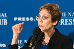 Retired Ambassador Prudence Bushnell at March 5 Newsmaker