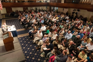 "Astronaut Buzz Aldrin discusses his book ""Mission to Mars"" at a National Press Club Book Rap, May 9, 2013."