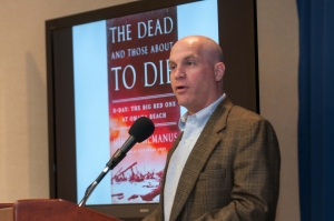 John C. McManus speaks at May 5 Book Event.