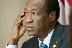 President Blaise Compaoré of Burkina Faso spoke at a National Press Club Newsmaker news conference August 7, 2014. President Compaoré, speaking in his native French, took questions from the audience via interpretation.