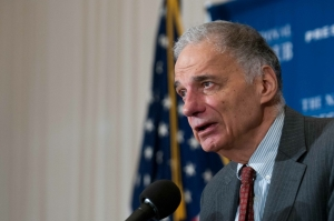 Consumer advocate Ralph Nader speaks at a National Press Club Luncheon, September 4, 2014.
