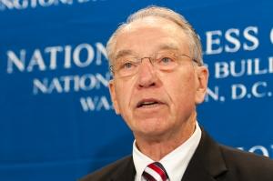 Senate Judiciary Chairman  Chuck Grassley (R-Iowa) speaks at an April 27 Club Newsmaker.