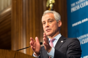 Chicago Mayor Rahm Emanuel speaks at National Press Club Headliners Luncheon June 20