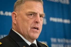 U.S. Army Chief of Staff Mark Milley speaks at a July 27 National Press Club Headliners Luncheon.