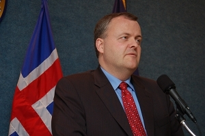 Iceland Minister of Business Affairs Gylfi Magnusson