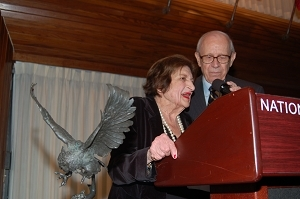 Helen Thomas and Don Larrabee