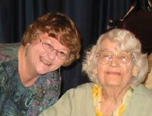 NPC President Sylvia Smith with Mildred Heath