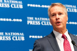 Associated Press President and CEO Gary Pruitt speaks at a National Press Club Luncheon, June 19, 2013.  Mr. Pruitt discussed the chilling effect government eavesdropping has on sources.