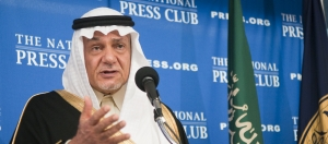 Saudi Arabian Prince Turki al-Faisal al-Saudi speaks at the National Press Club on Nov. 10, 2011.