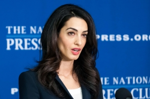 Amal Clooney, the lawyer representing imprisoned former Maldives President Mohamed Nasheed, told a Club Newsmaker audience on April 30 that his trial was politically motivated.