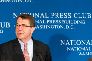 Deputy Secretary of Defense Dr. Ashton B. Carter discusses budget difficulties within the Department of Defense at a National Press Club Newsmaker, May 7, 2013.
