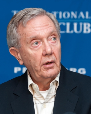 Former Interior Secretary Bruce Babbitt announces plan to strengthen America's energy future and conservation legacy at a National Press Club Newsmaker, Feb. 5, 2013.