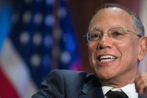 The New York Times Executive Editor Dean Baquet speaks about media criticism by President Donald Trump at The Kalb Report, Oct. 16, 2017 at the National Press Club.