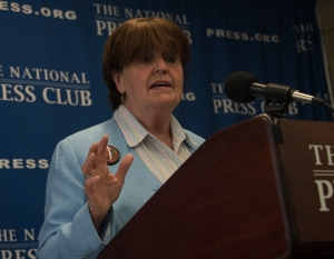 Baroness Caroline Cox of Queensbury appears at a National Press Club Newsmaker press conference on May 9, 2017.