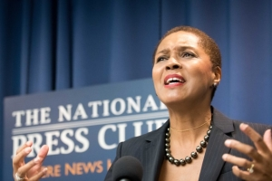Author Gloria J. Browne-Marshall told uninspired voters to exercise their power at the polls at an Oct. 18 National Press Club Book Rap.