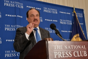 CVS Health president and chief executive Larry Merlo told a National Press Club Headliners luncheon Monday he wants to expand the drugstore's role in the U.S. healthcare system.