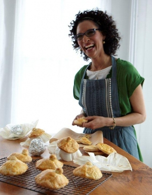 Chef Carla Hall in the kitchen