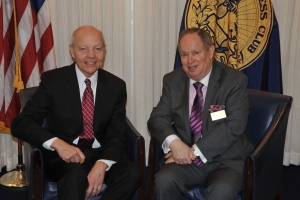 IRS Commissioner John Koskinen and 2014 NPC president Myron Belkind.