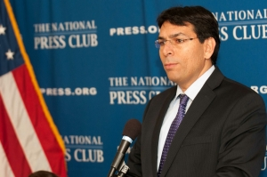 Israel Deputy Defense Minister Danny Danon speaks at a National Press Club Newsmaker, May 29, 2014.