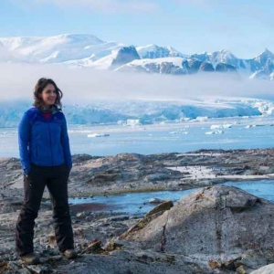 National Press Club member Maggie Dewane shot a video about climate change that featured an Antarctica penguin.