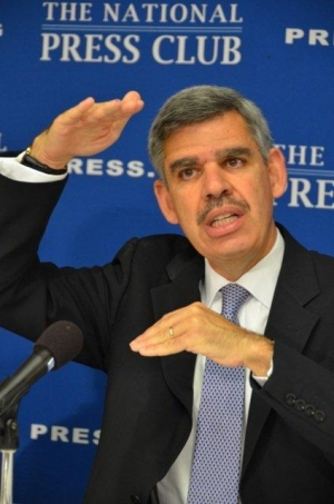 Mohamed El-Erian illustrates the gap between the economy's potential and its performance.