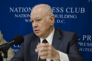Greek Minister of Economy and Economic Development Dmitri Papadimitriou  speaks at a National Press Club Headliners Newsmaker event June 21.
