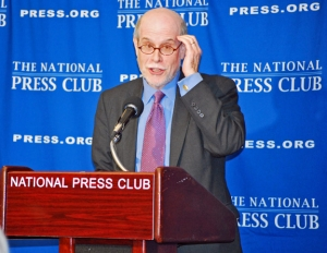 Harold Holzer discusses his book at an April 11, 2011 Book & Author event.