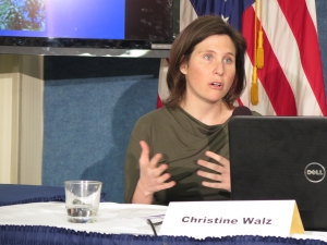 Christine Walz, an associate at Holland & Knight law firm, and an expert on FOIA, moderated the panel