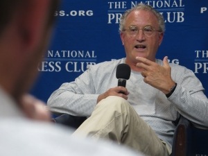 "Author Mark Bowden discusses ""The Last Stone"" at a National Press Club Headliners book talk on June 24."