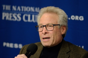 """Andy Parker, author of """"For Alison,"""" speaks at a March 6 event at the National Press Club."""