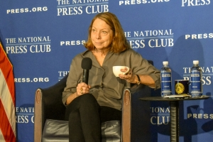 Former New York Times executive editor Jill Abramson explored the digital disruption of the news media at a Feb. 14 National Press Club event.