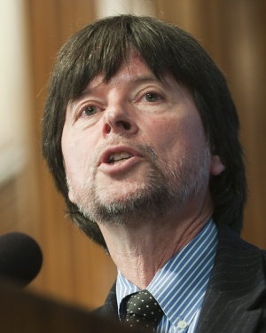 Documentary film maker Ken Burns speaks at the National Press Club on Oct. 3