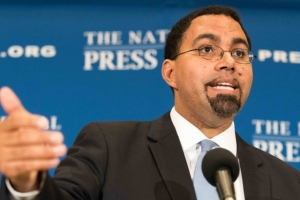 Education Secretary John B. King called for strengthening civics education at an Oct. 19 National Press Club luncheon.