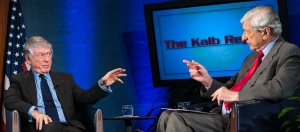"Marvin Kalb hosts Ted Koppel on The Kalb Report at The National Press Club, November 19, 2012.  The two veteran journalists discussed ""The Twilight of Network News."