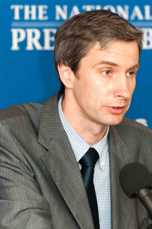 "Lithuanian journalist and politician, Algirdas Paleckis speaks at a June 7, 2012 National Press Club Newsmaker about his pending imprisonment for ""denying Soviet Agression against Lithuania."""