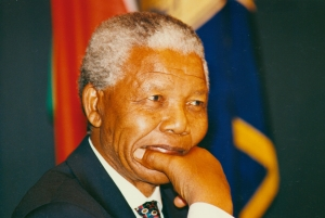 Nelson Mandela at The National Press Club in 1994.
