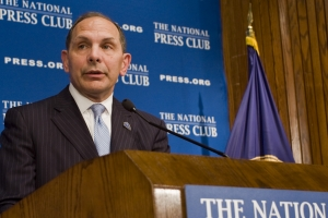 Robert McDonald, secretary of Veterans Affairs, speaks about ongoing reforms at the VA at a National Press Club Luncheon on Nov. 6, 2015