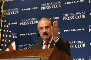 CVS Health CEO Larry Merlo touted his company's decision to stop selling tobacco products at a Sept. 19 National Press Club luncheon.