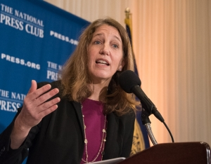Sylvia Burwell, Secretary of Health and Human Services, speaks about the future of the Affordable Care Act at a National Press Club Luncheon, January 9, 2017.