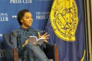 "Author Danni Starr appeared at a National Press Club Headliners Book Event on Feb. 13. She encouraged people suffering from mental health problems to ""tell your story. It allows others to say, 'Me, too.'"""