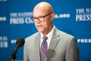 University of Missouri President Michael Middleton said the school has made 'significant progress' in addressing issues that caused racial tension last year.