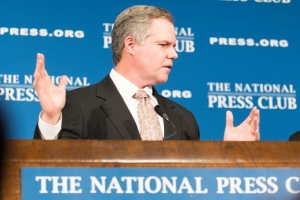 MGM Resorts International chairman and chief executive James Murren told a Dec. 2 National Press Club luncheon audience that the firm's new National Harbor casino will boost regional economic growth.
